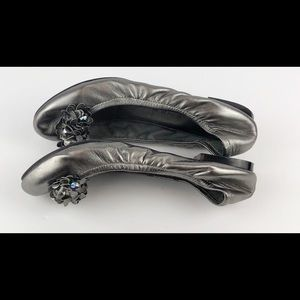 Marc Fisher Shoes - 🔥MARC FISHER SILVER BALLET FLAT WITH EMBELISHMENT